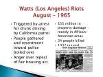 watts los angeles riots august 1965