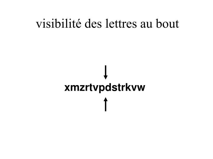 visibilité des lettres au bout