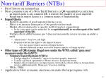 non tariff barriers ntbs