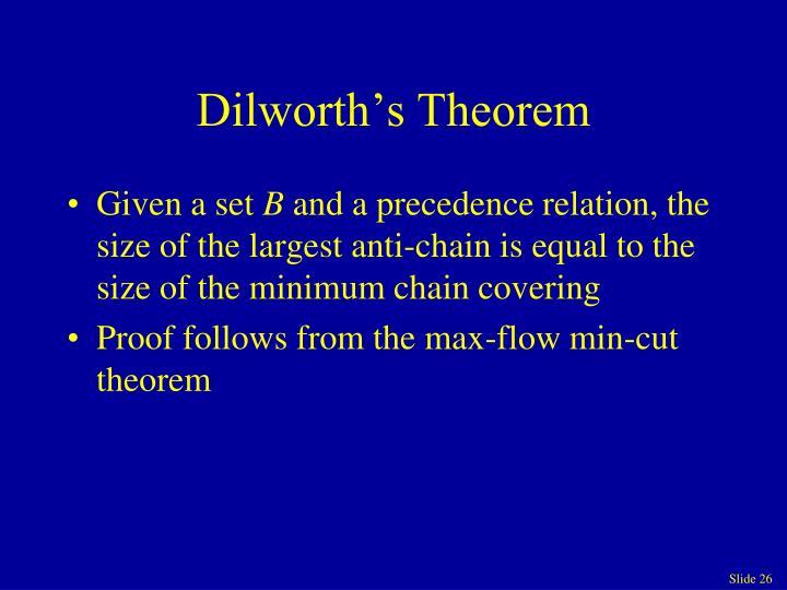 Dilworth's Theorem