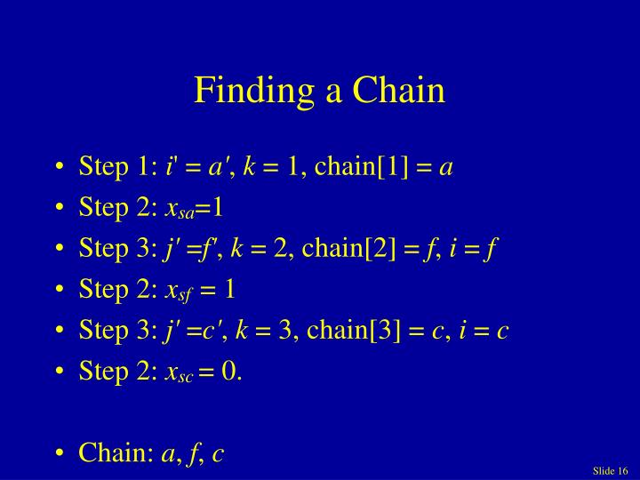 Finding a Chain