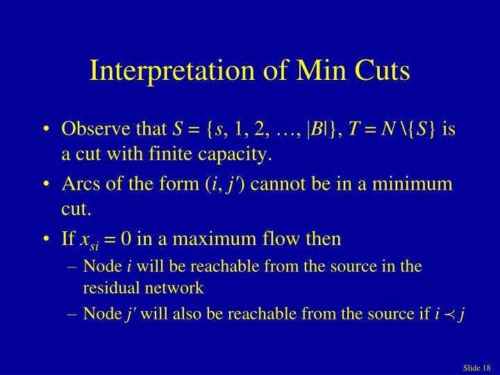 Interpretation of Min Cuts