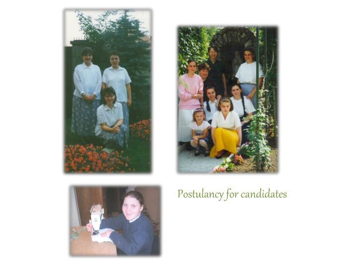 Postulancy