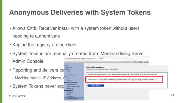 Anonymous Deliveries with System Tokens