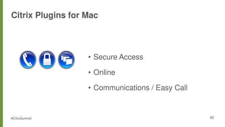Citrix Plugins for Mac