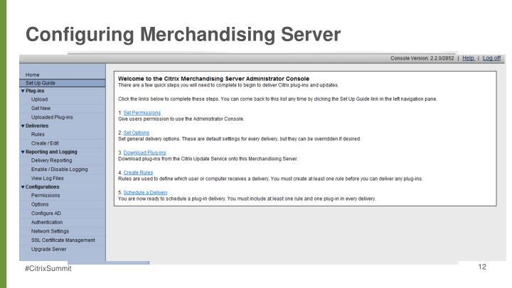 Configuring Merchandising Server