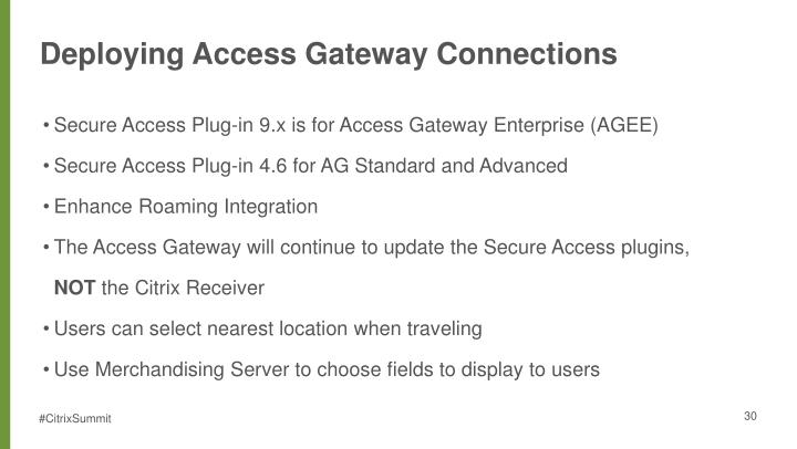 Deploying Access Gateway Connections