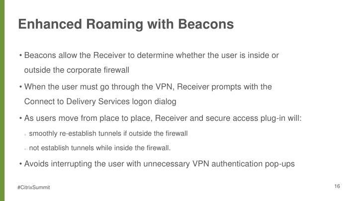 Enhanced Roaming with Beacons