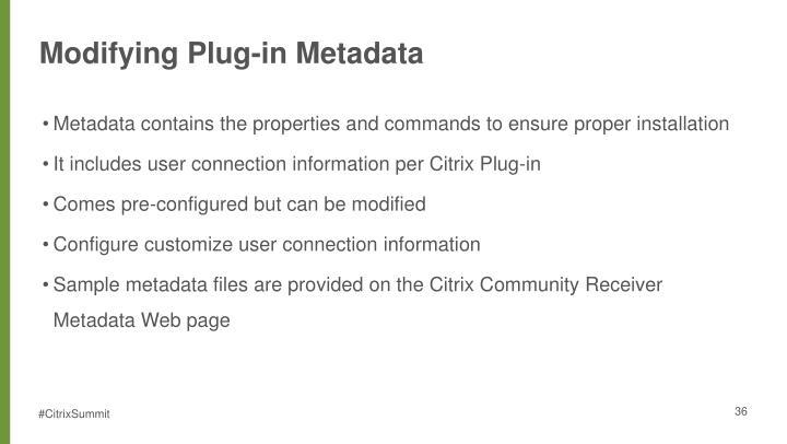 Modifying Plug-in Metadata
