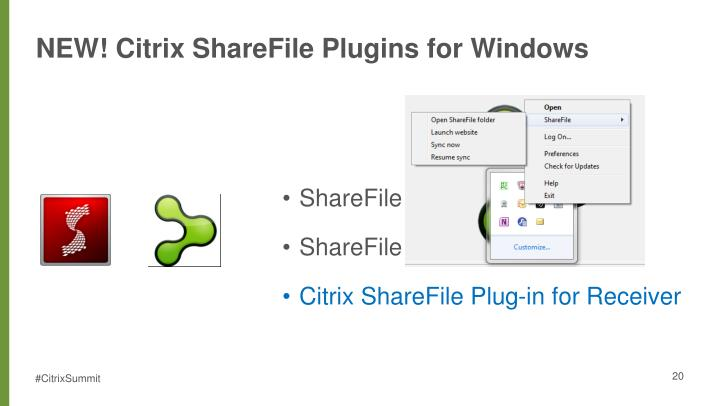 NEW! Citrix ShareFile Plugins for Windows