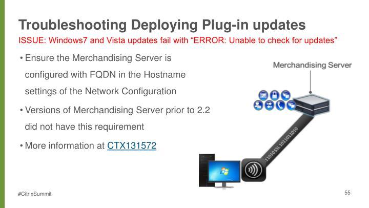 Troubleshooting Deploying Plug-in updates