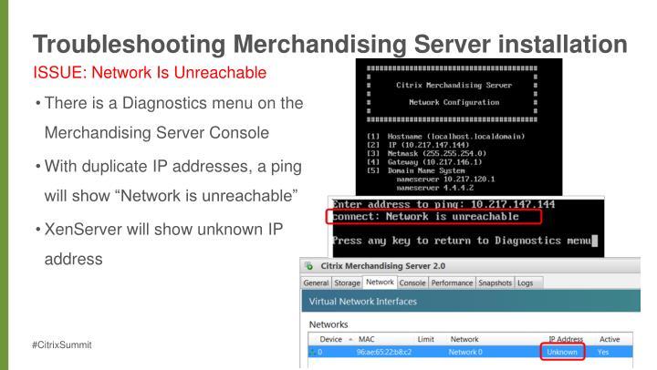 Troubleshooting Merchandising Server installation