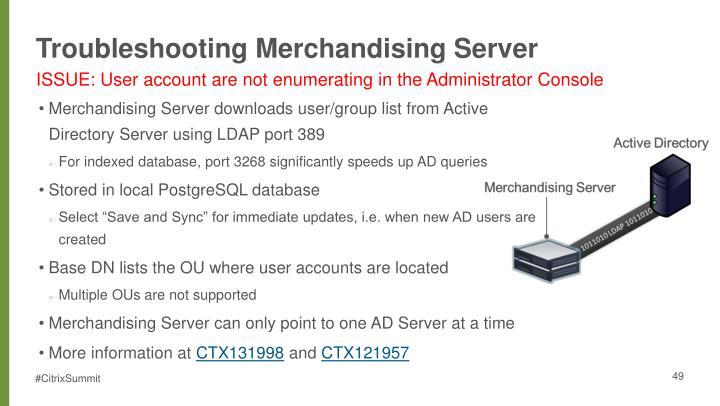 Troubleshooting Merchandising Server