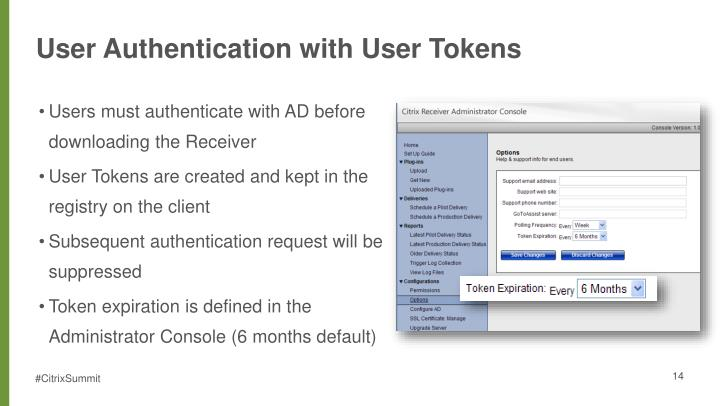User Authentication with User Tokens