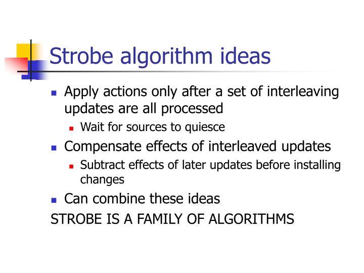 Strobe algorithm ideas