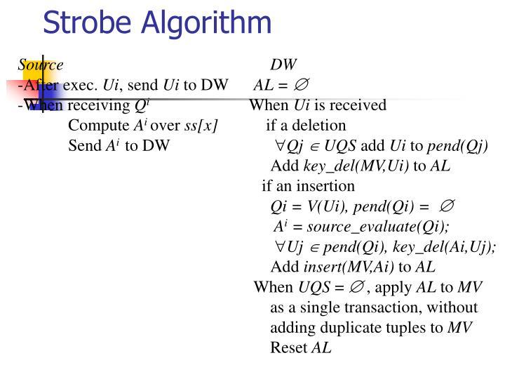Strobe Algorithm