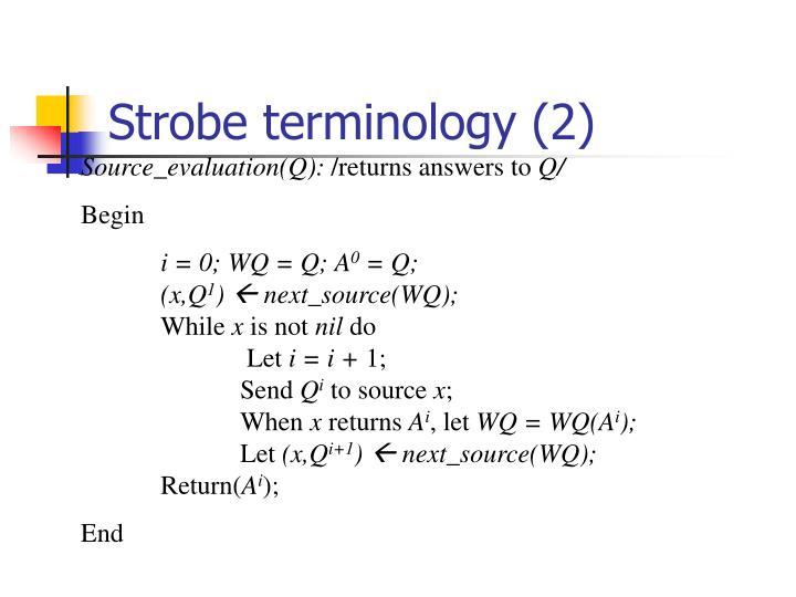 Strobe terminology (2)