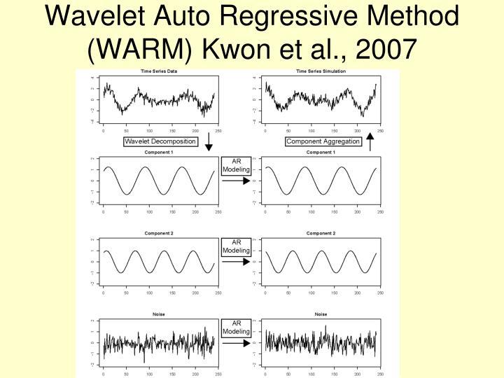 Wavelet Auto Regressive Method (WARM) Kwon et al., 2007