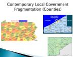 contemporary local government fragmentation counties