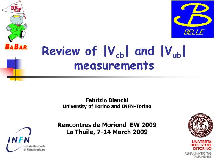 Review of v cb and v ub measurements