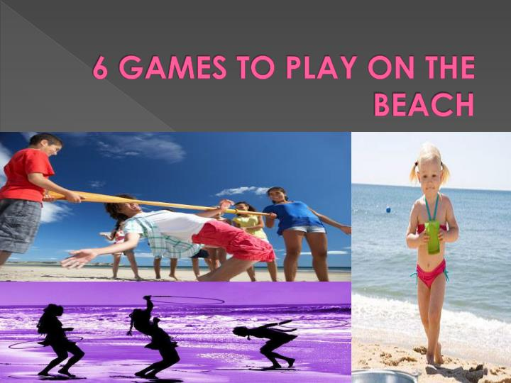 6 games to play on the beach n.