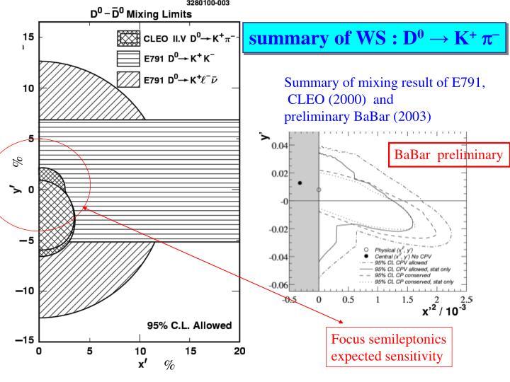 summary of WS : D