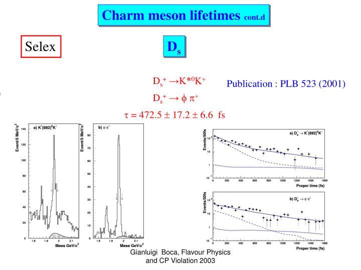 Charm meson lifetimes