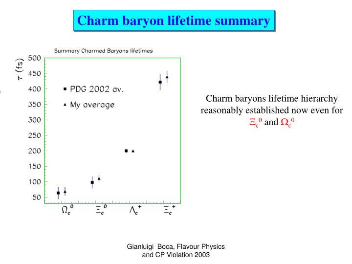 Charm baryon lifetime summary