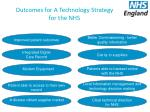 outcomes for a technology strategy for the nhs