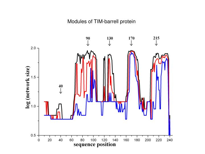 Modules of TIM-barrell protein