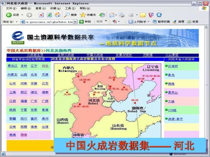 中国火成岩数据集