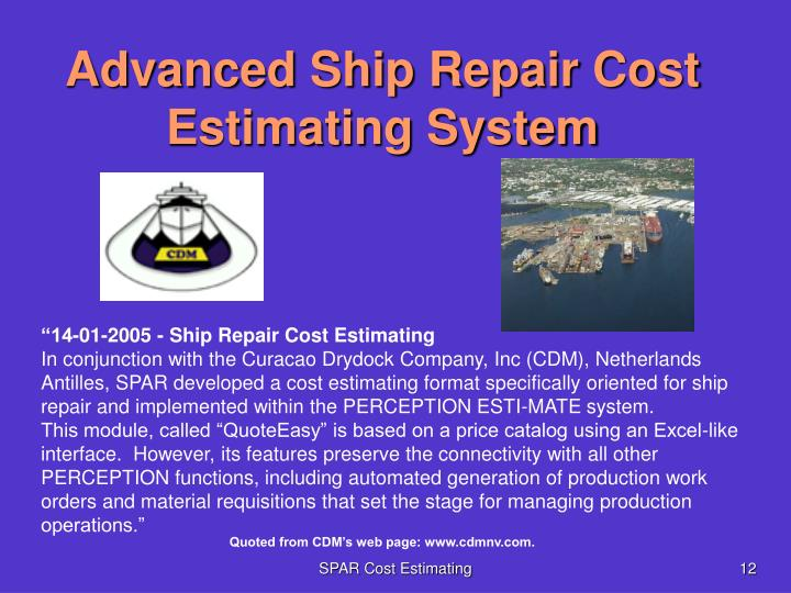 Advanced Ship Repair Cost Estimating System