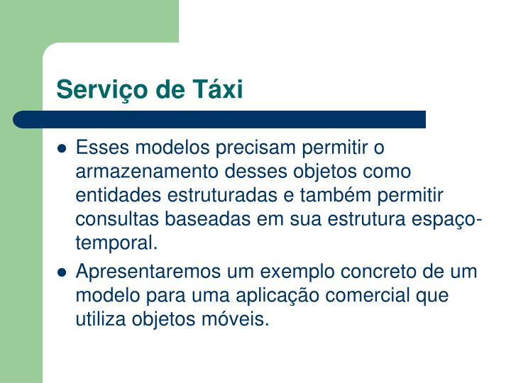 Serviço de Táxi