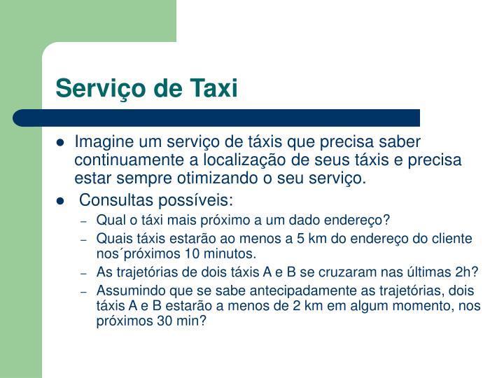Serviço de Taxi
