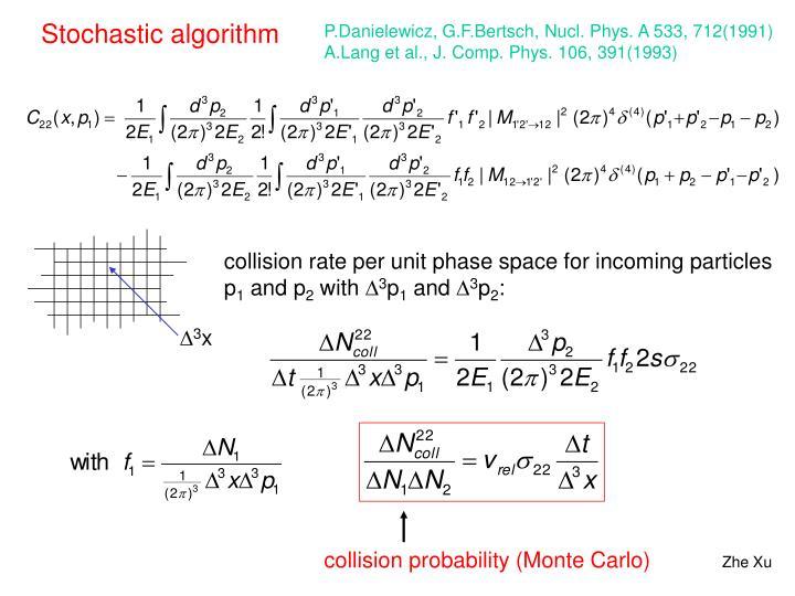 Stochastic algorithm