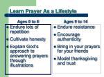 learn prayer as a lifestyle