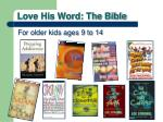 love his word the bible5