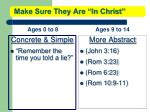 make sure they are in christ