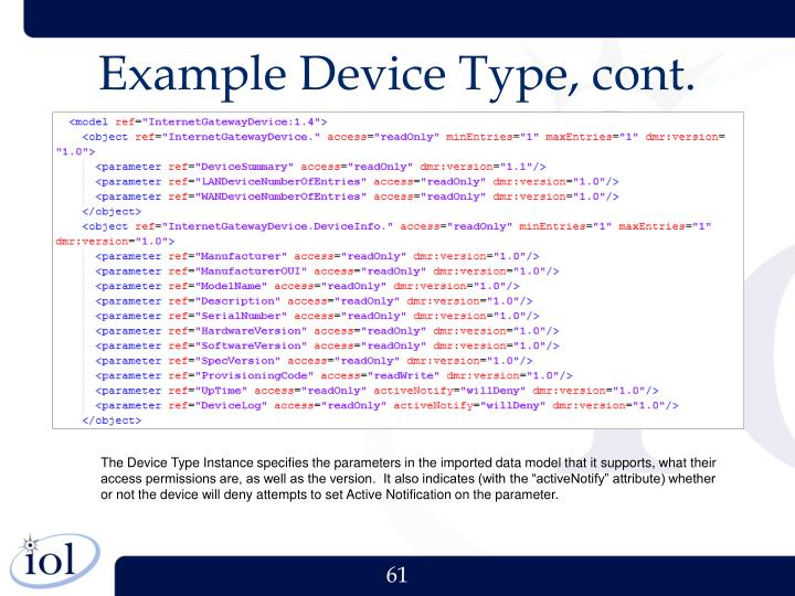Example Device Type, cont.