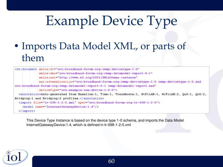 Example Device Type