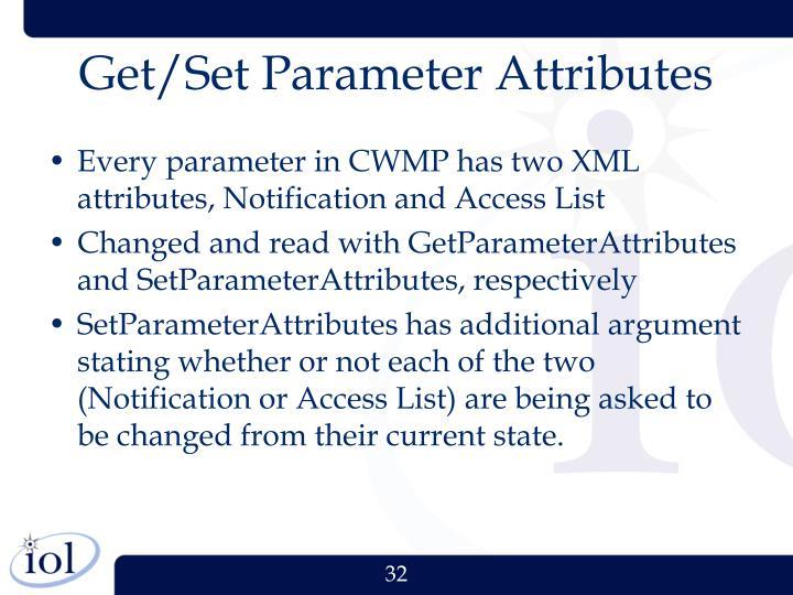Get/Set Parameter Attributes