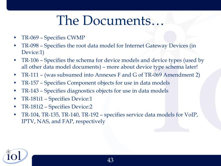 The Documents…
