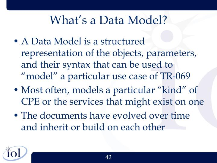 What's a Data Model?