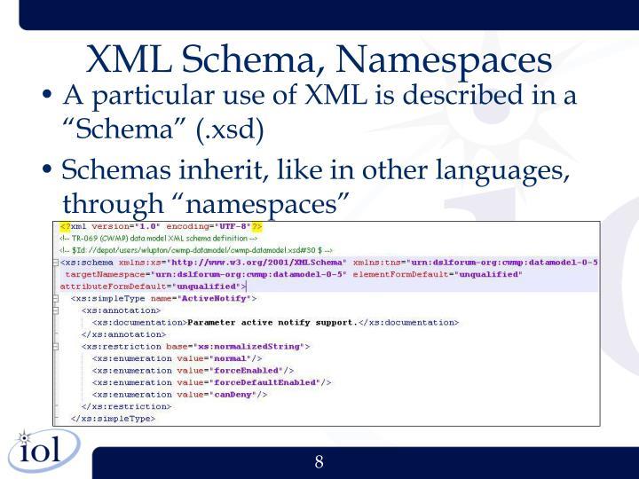 XML Schema, Namespaces