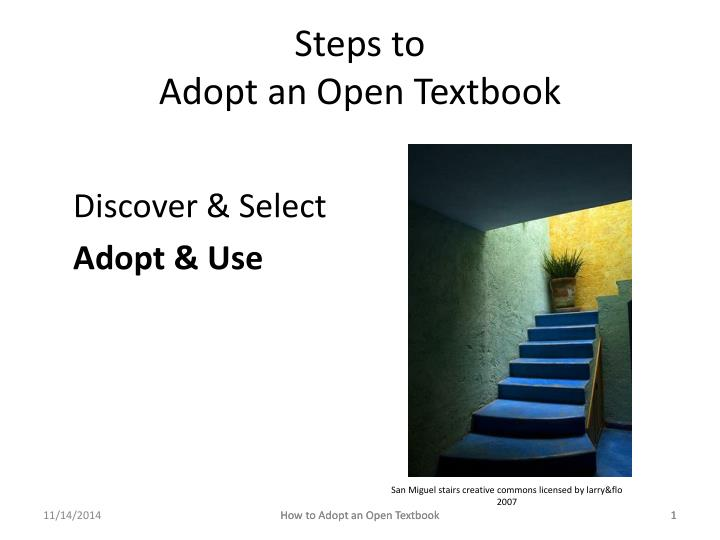 Steps to adopt an open textbook