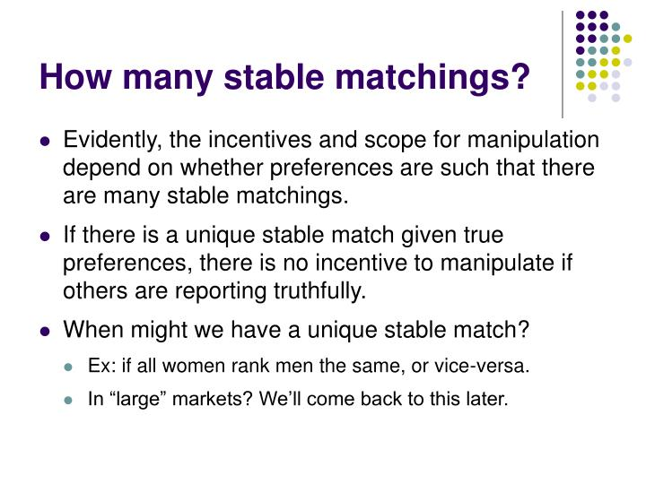 How many stable matchings?