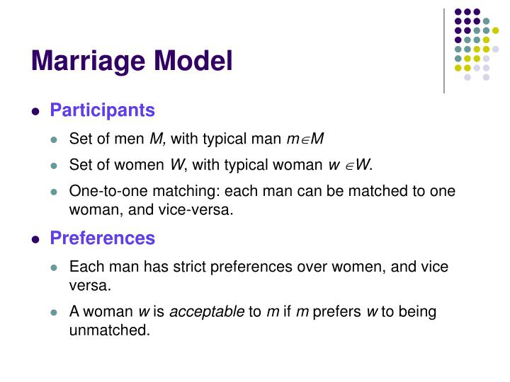 Marriage Model