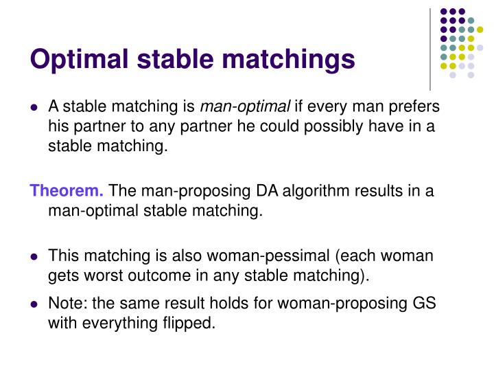 Optimal stable matchings