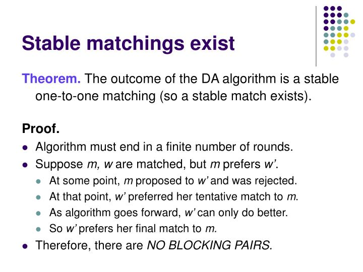 Stable matchings exist