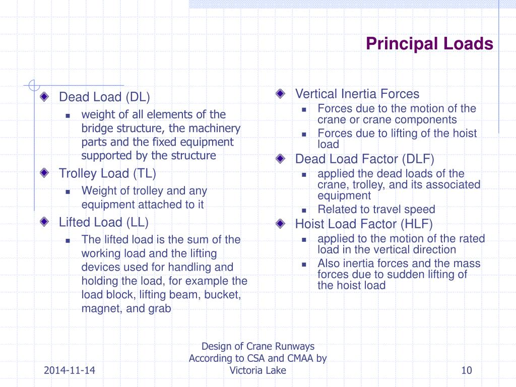 PPT - Design of Crane Runways According to CSA and CMAA PowerPoint